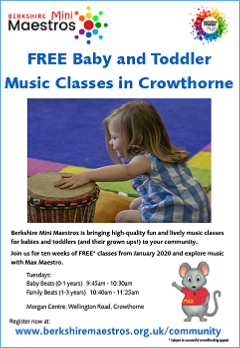 Free baby and toddler music classes in Crowthorne